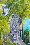 Road in Center area of Ho Chi Minh city Royalty Free Stock Photos
