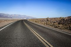 Road through the center of Death Valley. royalty free stock image