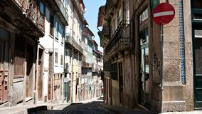 A road in the center of Porto, Portugal Royalty Free Stock Photos