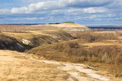 Road of chalk hills Royalty Free Stock Photo