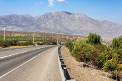 Road in Chile Royalty Free Stock Images
