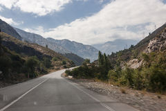 Road in Chile Stock Photography