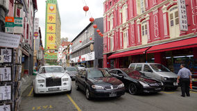 The road of china town. At singapore royalty free stock images