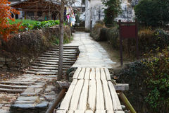 Road in chinese village Royalty Free Stock Images