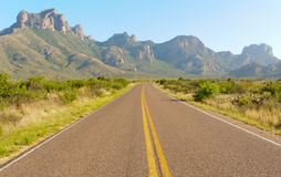 Road into the Chisos Mountains Stock Photography