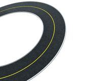 Road circle background Stock Images