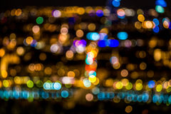 Road City lights blur bokeh, abstract background Vector Illustration