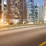 Road and city Stock Image