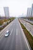 Road in the city. A self-contained Road in hefei city ,china ,In recent years China continued to increase investmentin in infrastructure construction Stock Photo
