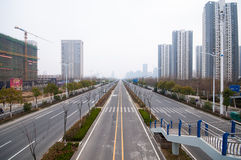 Road in the city. A self-contained Road in hefei city ,china ,In recent years China continued to increase investmentin in infrastructure construction royalty free stock photos