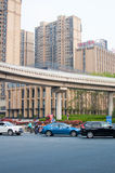 Road in the city. A self-contained Road with Viaduct in hefei city, China Royalty Free Stock Photos