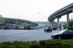 Road in the city. A self-contained Road with Viaduct in hefei city, China Royalty Free Stock Image