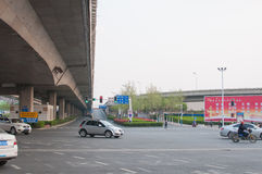 Road in the city. A self-contained Road with Viaduct in hefei city, China Royalty Free Stock Photo
