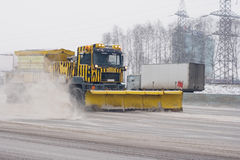 Road cleaning Royalty Free Stock Photography