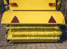 Road cleaning machine. Detail of road cleaning machine Royalty Free Stock Image