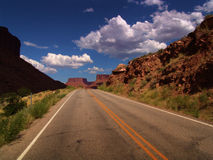 Road close-up. Desert road - USA Royalty Free Stock Photos