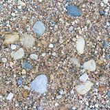 Road close up. Stone and sand texture. Stock Photography