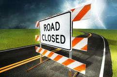 Road Closed Royalty Free Stock Photos