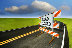 Free Road Closed Royalty Free Stock Photos - 12325098