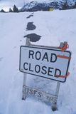Road Closed. A sign that reads Road Closed stock photography