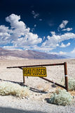 Road closed. Death valley national park,california,USA-august 3,2012: road closed in the death valley Stock Images