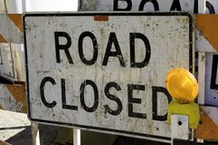 Road Closed Stock Image