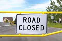 Road Closed. Close up of a sign that states road closed Royalty Free Stock Image
