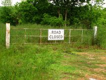 Road Closed. Gate Stock Images