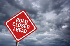 Road closed ahead Stock Images