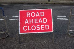 Road Closed Ahead Royalty Free Stock Images