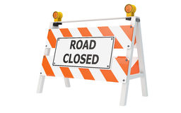 Road Closed Barricade Construction. Road Closed Barricade isolated with clipping path Royalty Free Stock Photography