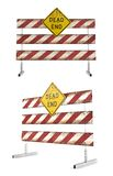 Road closed barricades. Dead end Royalty Free Stock Photo
