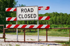 Road closed barrier Stock Photography