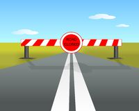 Road closed, cdr vector Royalty Free Stock Photos