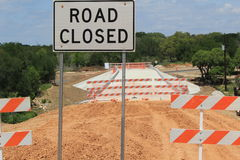 Road Closed. Road Construction has closed a roadway Stock Images