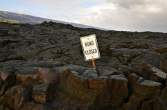 Road closed, Hawaii Royalty Free Stock Images