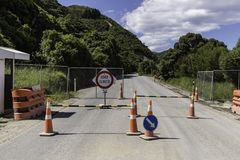 Road Closed Barrier Royalty Free Stock Photos