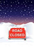 Road closed night Stock Photography