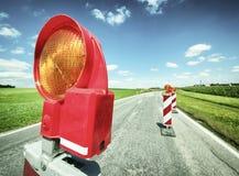 Road closed Stock Image