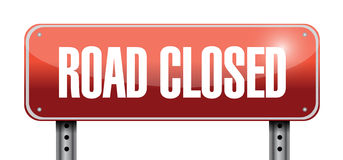 Road closed road sign illustrations design Royalty Free Stock Photography