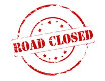 Road closed. Rubber stamp with text road closed inside,  illustration Stock Photo