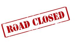 Road closed. Rubber stamp with text road closed inside,  illustration Stock Images