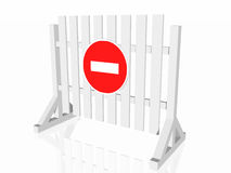 Road closed sign royalty free illustration