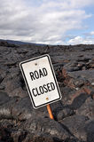 Road closed sign, Big Island, Hawaii Royalty Free Stock Image