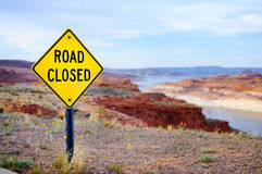 'Road Closed' Sign Stock Photo