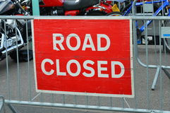 Road closed sign. Stock Photo