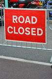 Road closed sign. Stock Images