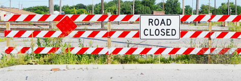 Road Closed Sign Royalty Free Stock Photos