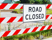 Road Closed Sign Royalty Free Stock Photography