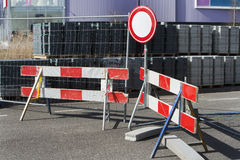 Road closed sign Stock Image